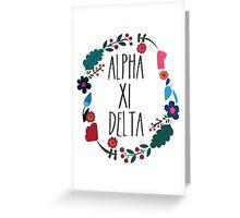 Alpha Xi Delta Flower Wreath Greeting Card