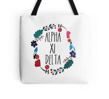Alpha Xi Delta Flower Wreath Tote Bag