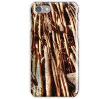texture of wicker, wicker brace iPhone Case/Skin