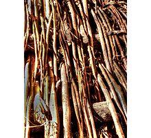 texture of wicker, wicker brace Photographic Print