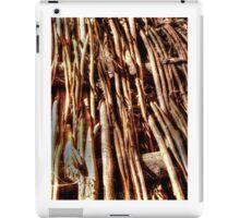 texture of wicker, wicker brace iPad Case/Skin