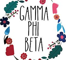 Gamma Phi Beta Flower Wreath by Margaret Young