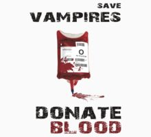 save vampires - donate blood by kennypepermans