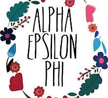 Alpha Epsilon Phi Flower Wreath by Margaret Young