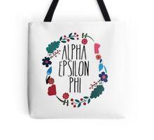 Alpha Epsilon Phi Flower Wreath Tote Bag