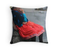 Ecuador Girl Throw Pillow