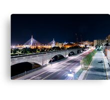 Zakim Bride from Museum of Science 2 Canvas Print