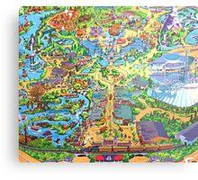 Disneyland Map Metal Print