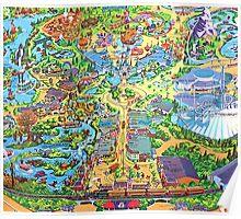 Disneyland Map Poster