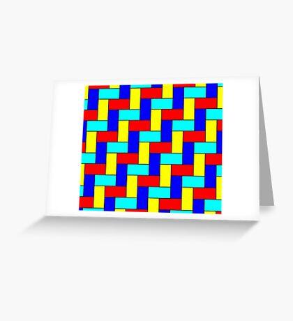 Vintage Multicoloured Pattern Greeting Card
