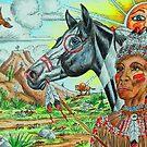 Zentangle Indian by WildestArt