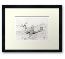 Almost a bad day Framed Print