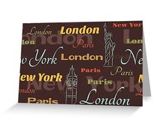 Cities Pattern Greeting Card