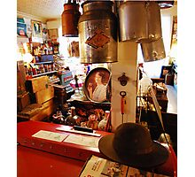 Store with Hat Photographic Print