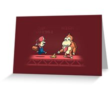Tricky Kong Greeting Card