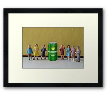 After seeing the success of Sierra Mist, Joseph invents his own soda and shares it with his wives. Framed Print