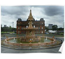 Glasgow fountain and the Peoples Palace Poster