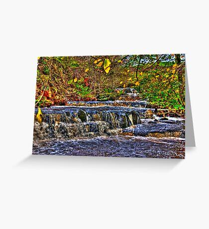 Waterfalls at Kearton (HDR) Greeting Card
