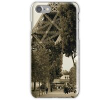 Eiffel Tower, A glimpse. iPhone Case/Skin