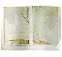 Sailboat in the Window Poster