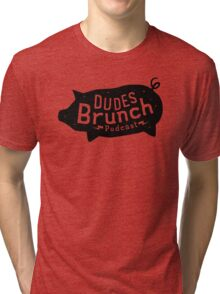 Dudes Brunch Podcast Logo T-shirt Tri-blend T-Shirt