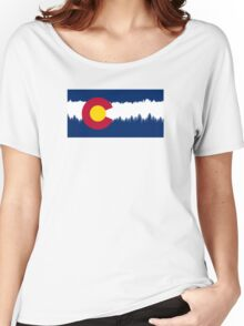 Colorado Flag Treeline Silhouette Women's Relaxed Fit T-Shirt