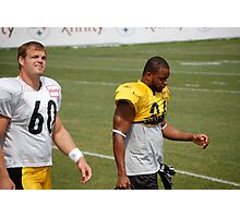 Moore and Warren at 2010 Steelers Camp Photographic Print