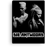 Die Antwoord - Yolandi & Ninja Black&White Canvas Print