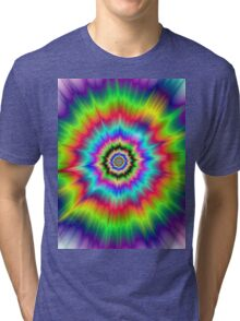 Psychedelic Explosion Tri-blend T-Shirt