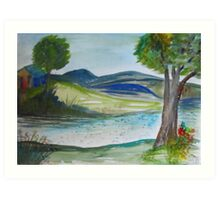 Restful Hills Art Print