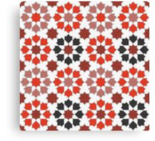 Red Color Tiles Canvas Print