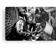 Bedraggled Street Performer: Portobello Road Market, London, UK. Metal Print