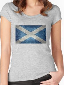 National flag of Scotland - Vintage version Women's Fitted Scoop T-Shirt