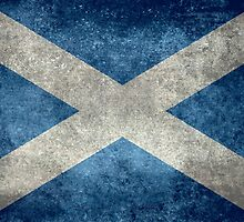 National flag of Scotland - Vintage version by Bruiserstang
