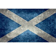 National flag of Scotland - Vintage version Photographic Print
