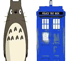 Totoro meets the tardis by textilestalk