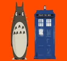 Totoro meets the tardis Kids Tee