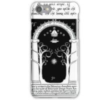 Door to moria iPhone Case/Skin
