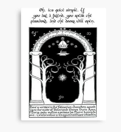 Door to moria Canvas Print