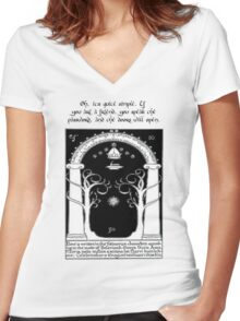 Door to moria Women's Fitted V-Neck T-Shirt