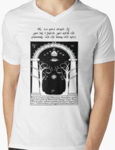 Door to moria Mens V-Neck T-Shirt