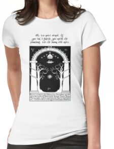 Door to moria Womens Fitted T-Shirt