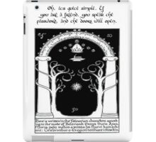 Door to moria iPad Case/Skin