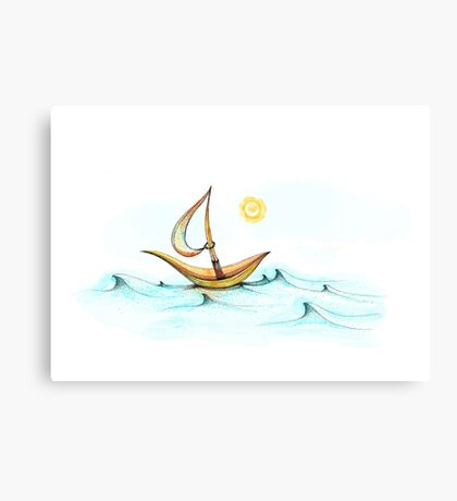 Ocean Breeze with sun Canvas Print