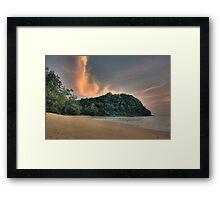Lazy Beach, Lazy Sky Framed Print