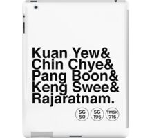 PAP Right-Wing Helvetica List (with SG50 logo) iPad Case/Skin