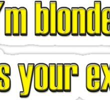 Blonde Sticker