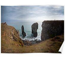Elegug Stacks, Wales Poster