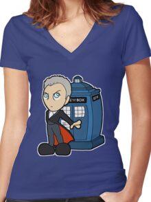 Doctor Number Twelve Women's Fitted V-Neck T-Shirt