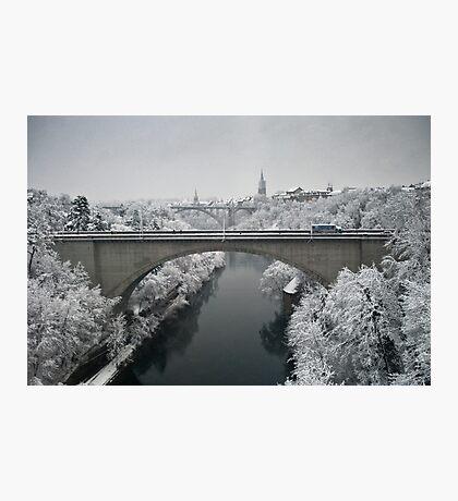 Lorraine Bridge in Winter Photographic Print